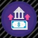 bank, cash, deposit, money icon