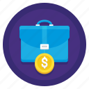 briefcase, business, money, payment icon