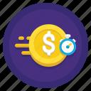 fast, instant, money, stopwatch, transfers icon