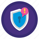 alert, fraud, lock, notification, warning