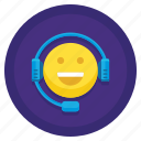 team, friendly, service, support, agent, customer, happiness icon