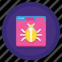 application, bug, malware, virus