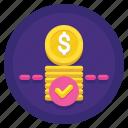 amount, limit, minimum, money, transaction icon