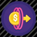 money, money transfer portal, portal, transfer icon