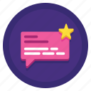 customers, reviews, satisfaction, testimonials icon