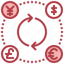 currency, euro, exchange, finances, yen