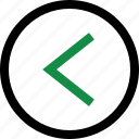 arrow, back, backwards icon