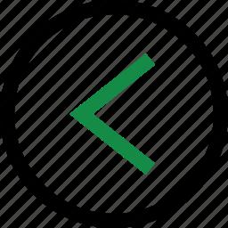 arrow, back, backwards icon