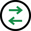 arrow, data, left, right icon