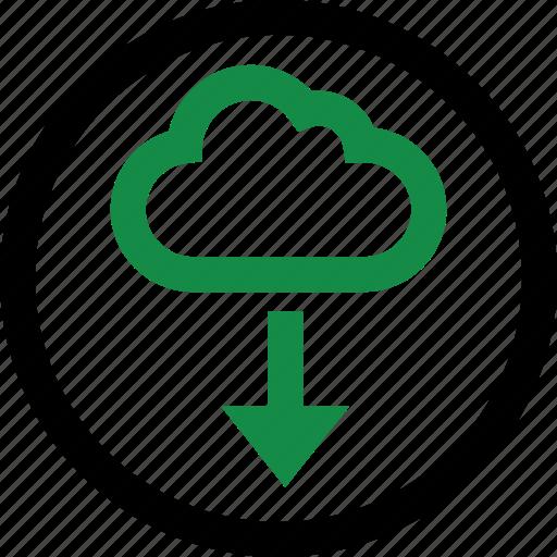 arrow, data, pointe icon