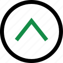 arrow, pointer, up icon
