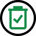 bin, check, mark icon