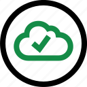 cloud, data, good icon