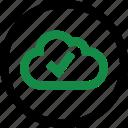cloud, data, good icon