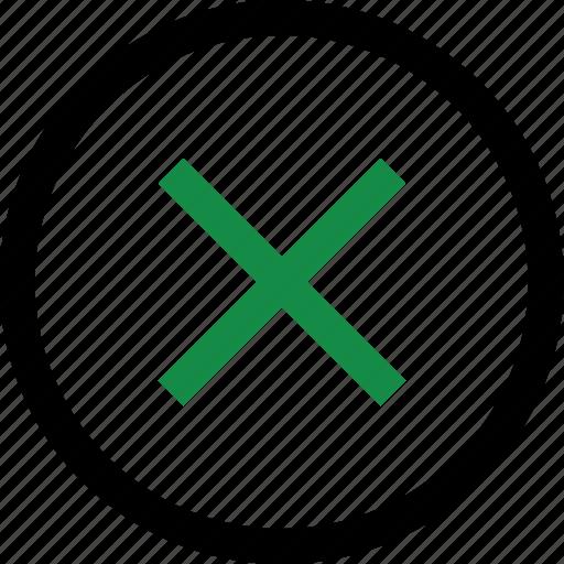 cross, delete, menu icon