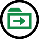 arrow, folder, forward icon