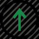 menu, point, upload icon