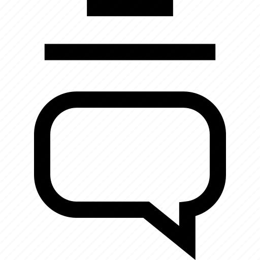 lines, sms, talk icon