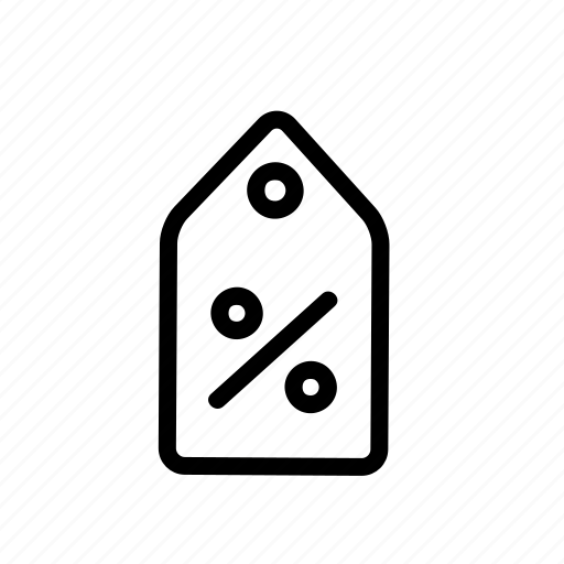 discount, ecommerce, label, onlineshop, percent, percentage, tag icon