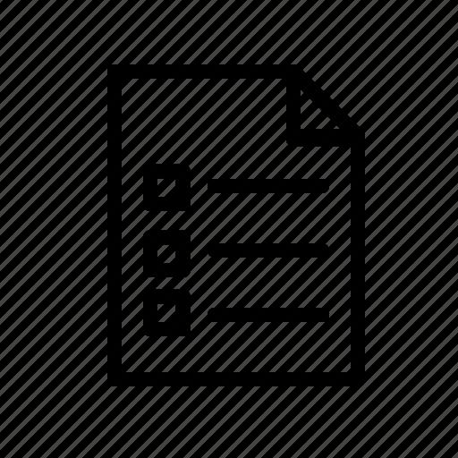 Checklist, onlineshop, paper, documents, list, office icon - Download on Iconfinder