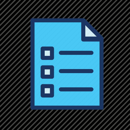 checklist, ecommerce, note, paper icon