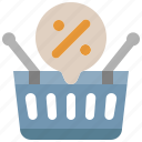 discount, basket, supermarket, offer, sale, commerce, percentage