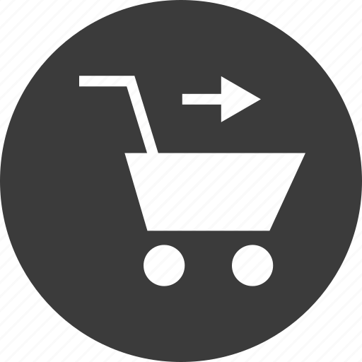 arrow, cart, point, pointer, shopping icon