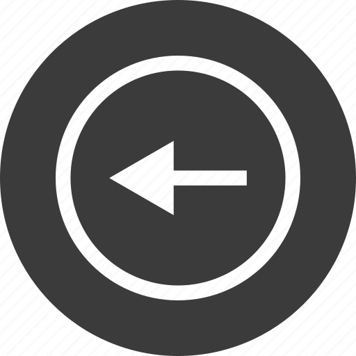arrow, back, exit, point, pointer icon