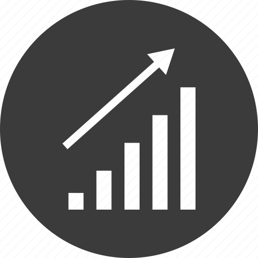 bars, data, graph, sales, up icon