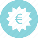 euro, money, price, sign icon