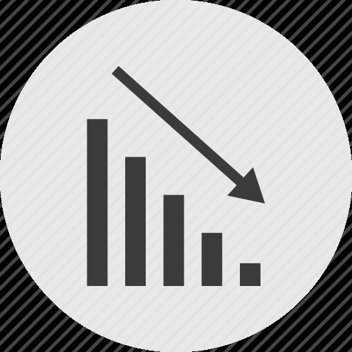 arrow, low, point, pointer, sales icon