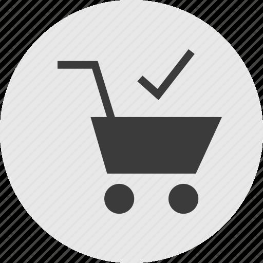 add, cart, ok, safe, shopping icon