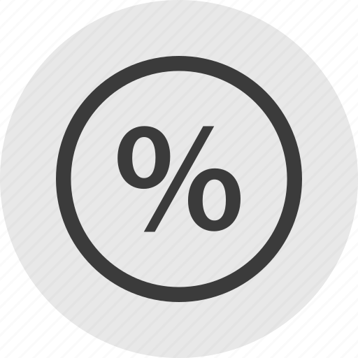 funds, percent, percentage, rate icon