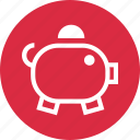 bank, funds, money, piggy icon