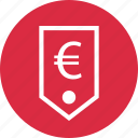euro, money, price, sign, tag icon