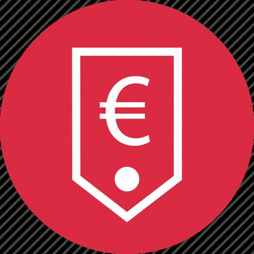 euro, money, price, sign, tag icon