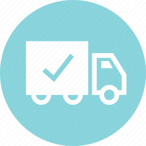 fast, safe, secured, shipping, truck icon