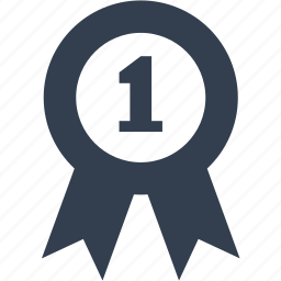 ecommerce, emblem, label, number one, shopping, tag, warranty icon