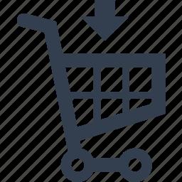 add, buy, cart, e-comerce, purchase, retail, shopping icon