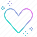 bookmark, button, favorite, heart, list, love, wish icon