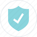 check, mark, secured, shield icon