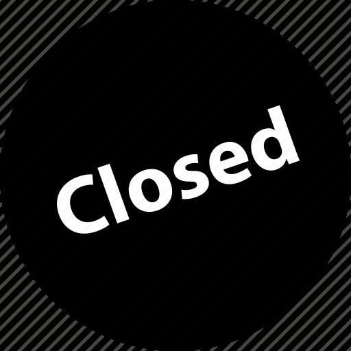 close, closed, sign icon