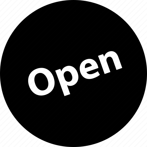 business, now, open, sign, tag icon