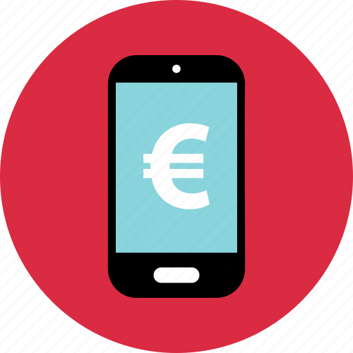 device, mobile, online, pay icon