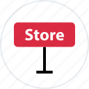 business, open, shop icon
