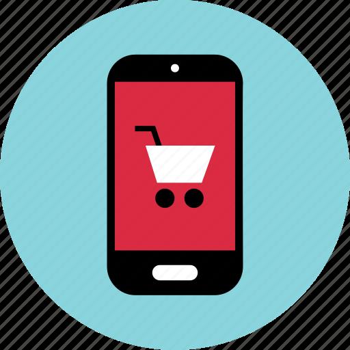 cart, mobile, shopping icon