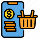 basket, online, payment, shopping, smartphone