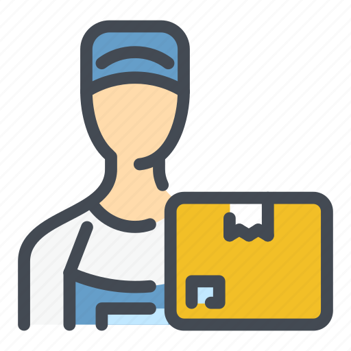 Box, delivery, gift, man, order, package, shipping icon - Download on Iconfinder