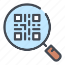 code, find, qr, search, shop, shopping, view icon