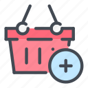 add, basket, cart, ecommerce, new, product, shop icon
